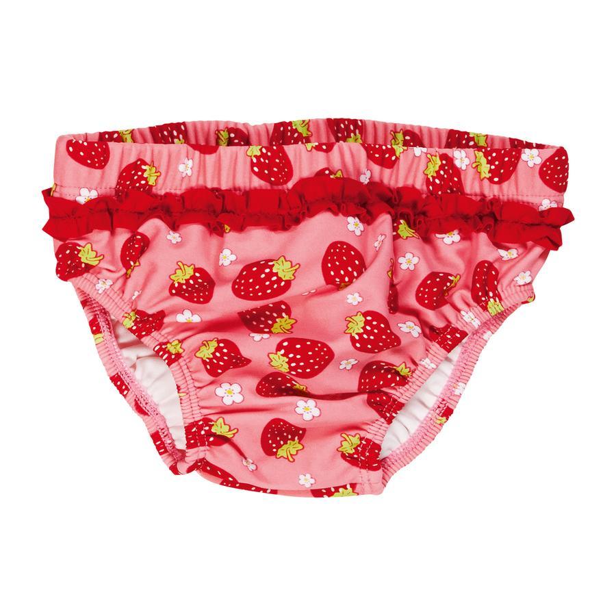 PLAYSHOES Boys UV plenkové plavky s jahodami - červené
