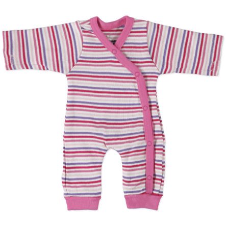 FIXONI Girls Preemie Overall stripes pink