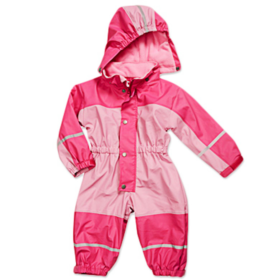PLAYSHOES Girls Babyoverall mit Fleece-Futter, rose/pink