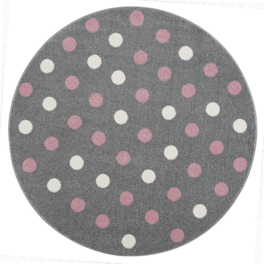 LIVONE Happy Rugs Dětský koberec BUBBLE S Round Grey Pink 133 cm