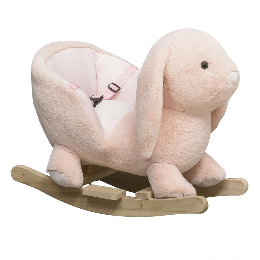 HOMCOM Kinder Schaukeltier als Kaninchen rosa