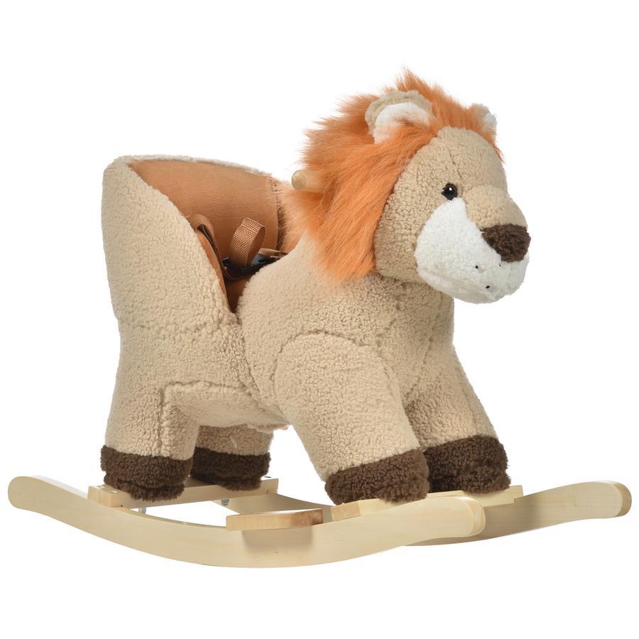 HOMCOM Kinder Schaukeltier als Löwe braun
