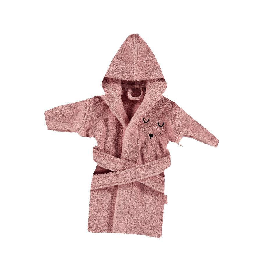 Alvi® Frottier Bademantel mit Kapuze rosa