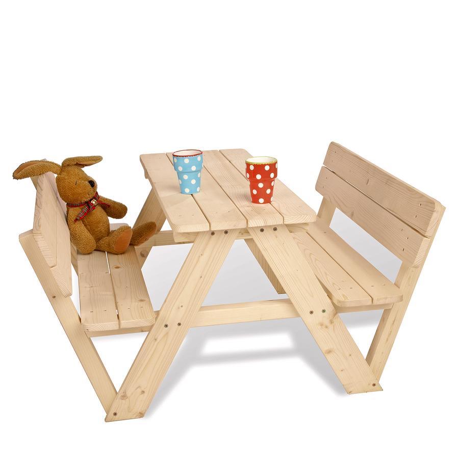 PINOLINO Kinder Picknicktafel Nicki voor 4 met rugleuning
