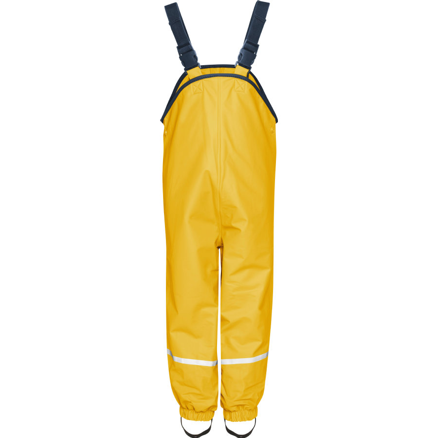 Playshoes Fleece-Trägerhose gelb