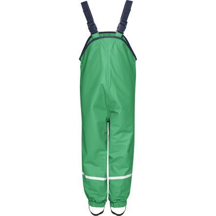 Playshoes Fleece-Trägerhose grün