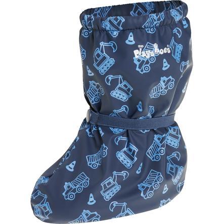 Playshoes  Regnfötter med fleecefoder Byggarbetsplats marine
