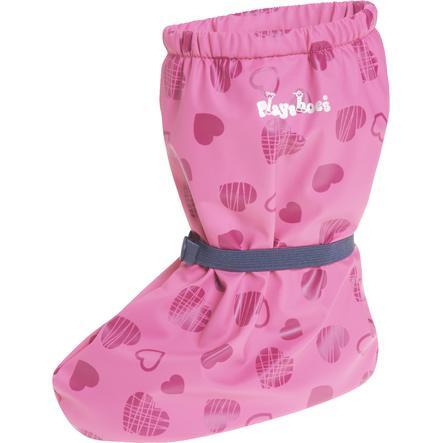 Playshoes Rainfeet med fleecefôr, hjerter rosa