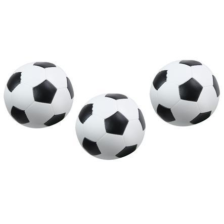 LENA® Soft-Fußbälle 3er-Set schwarz-weiß 10 cm
