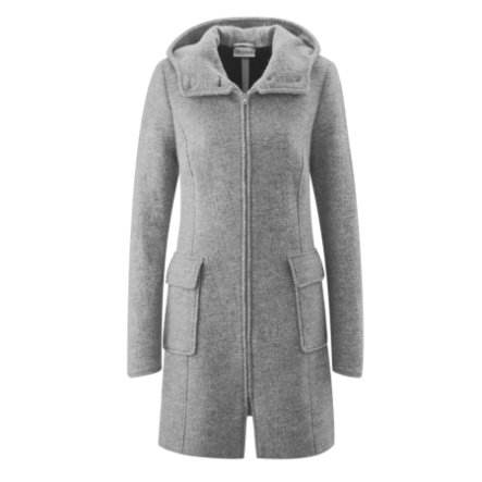 mamalila Hooded Carrying Coat Vienna lichtgrijs