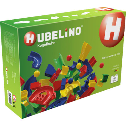 HUBELINO® Kugelbahn Bahnelemente Set 120 Teile