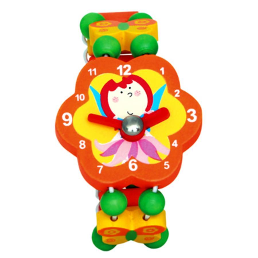 BINO náramkové hodinky motiv víla oranžová