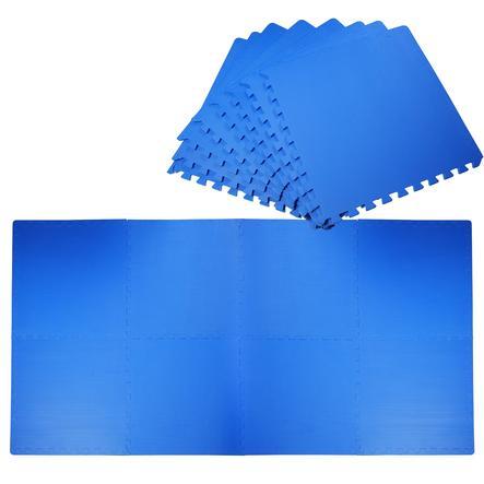 HOMCOM Puzzlematte als 8-teiliges Set blau
