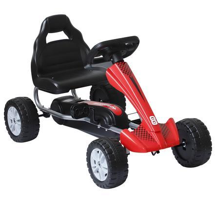HOMCOM Kinderfahrzeug mit Pedalen rot, schwarz