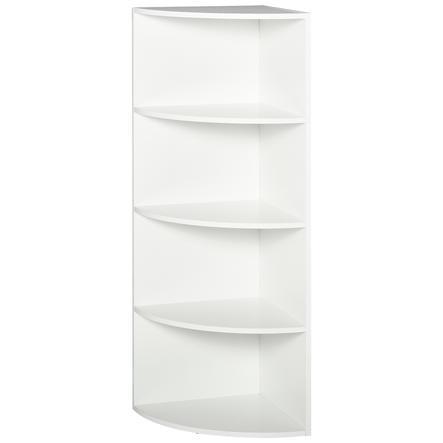 HOMCOM Eckregal mit 4 Fächer weiß
