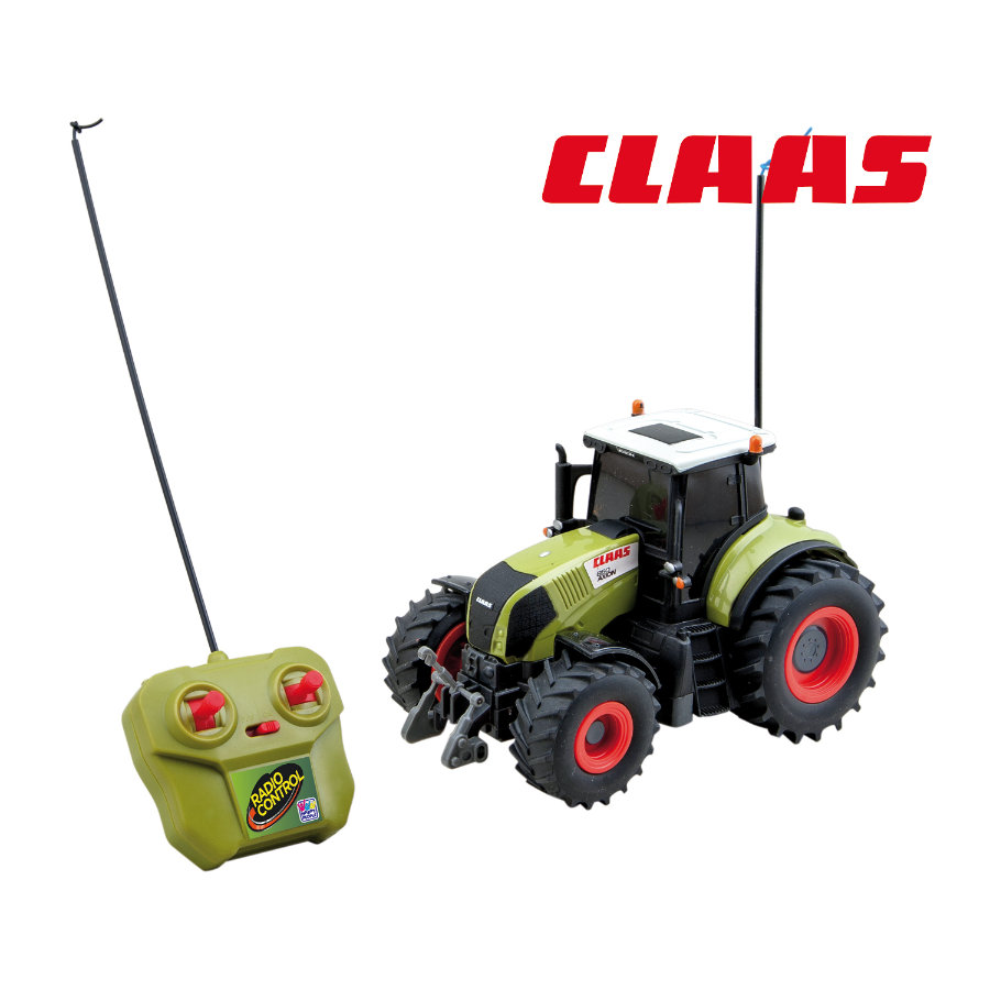 HAPPY PEOPLE Tracteur radiocommandé Claas Axion 850, 1:28