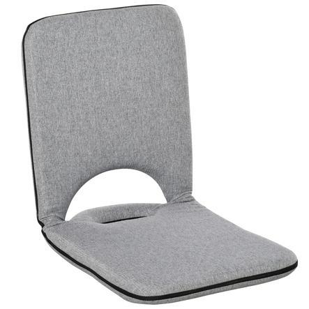 HOMCOM Sitzkissen mit verstellbarer Rückenlehne grau