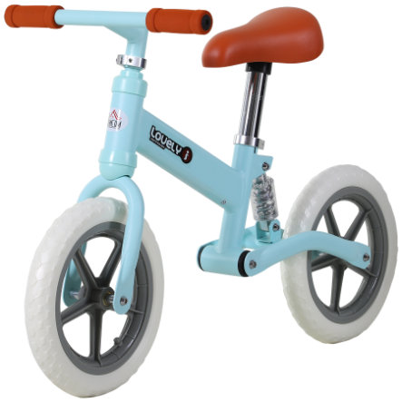 HOMCOM Kinder Laufrad mit Stoßdämpfer blau