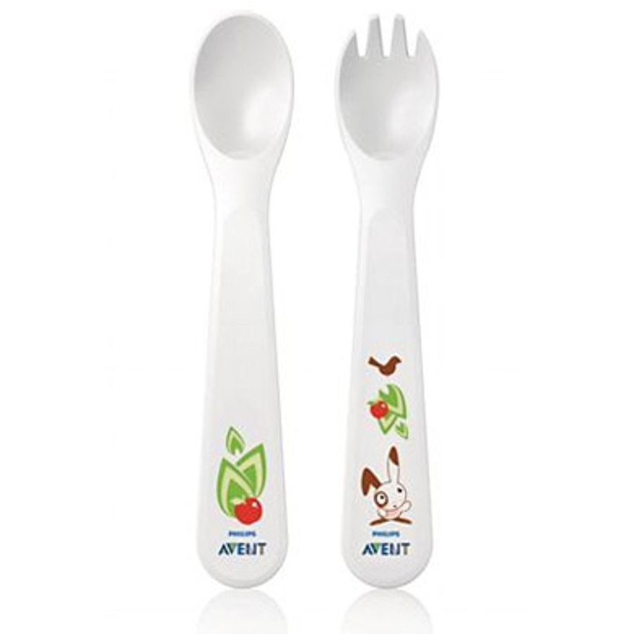 AVENT Toddler Fork and Spoon Set 12m+ BPA Free