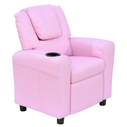 HOMCOM Kindersessel mit Liegefunktion rosa