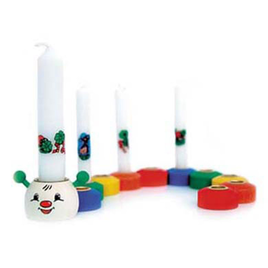 HESS Birthday Candle Holder Set Caterpiller