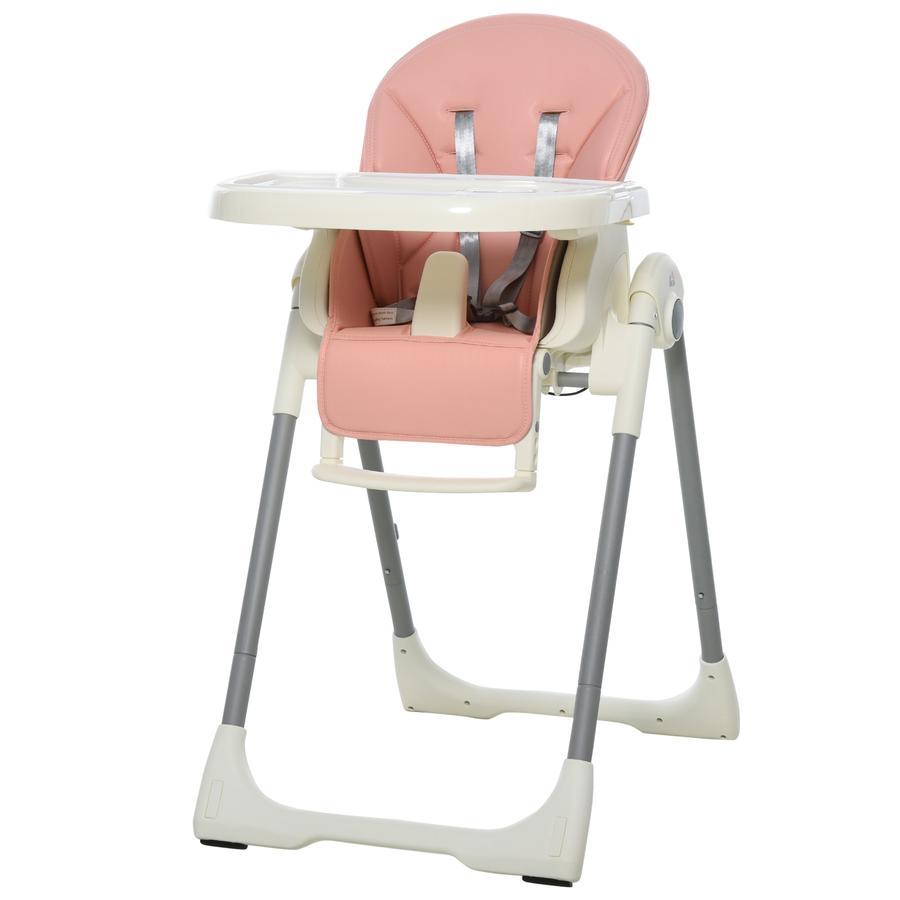 HOMCOM Hochstuhl für Babys rosa