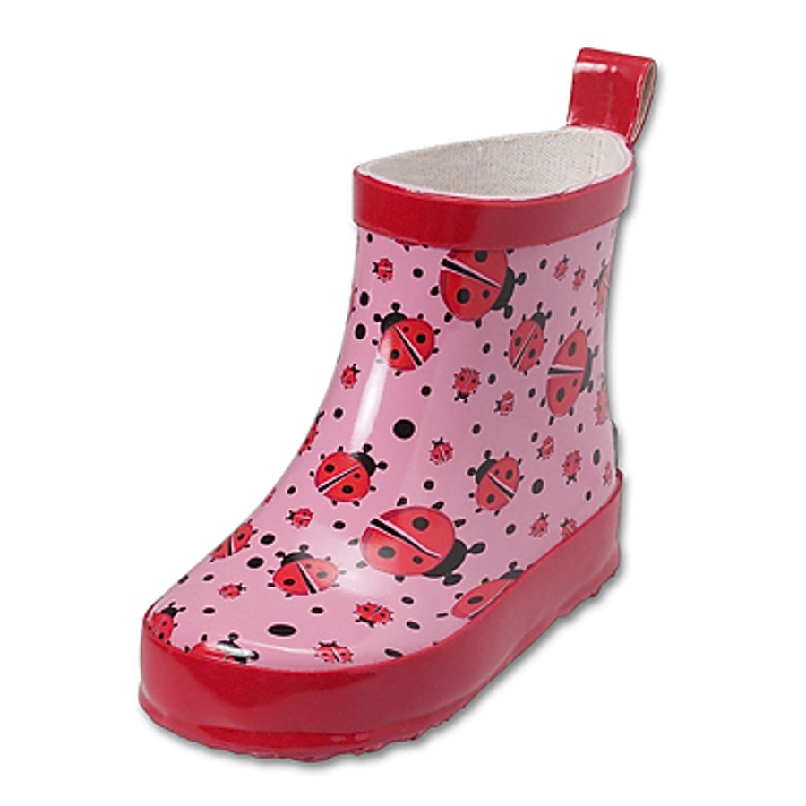 PLAYSHOES Girls Rubber Boots low Ladybeetle, PVC free