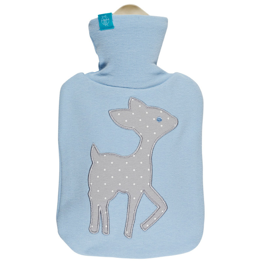 LÄSSIG Hot-Water Bottle Lela patch light blue