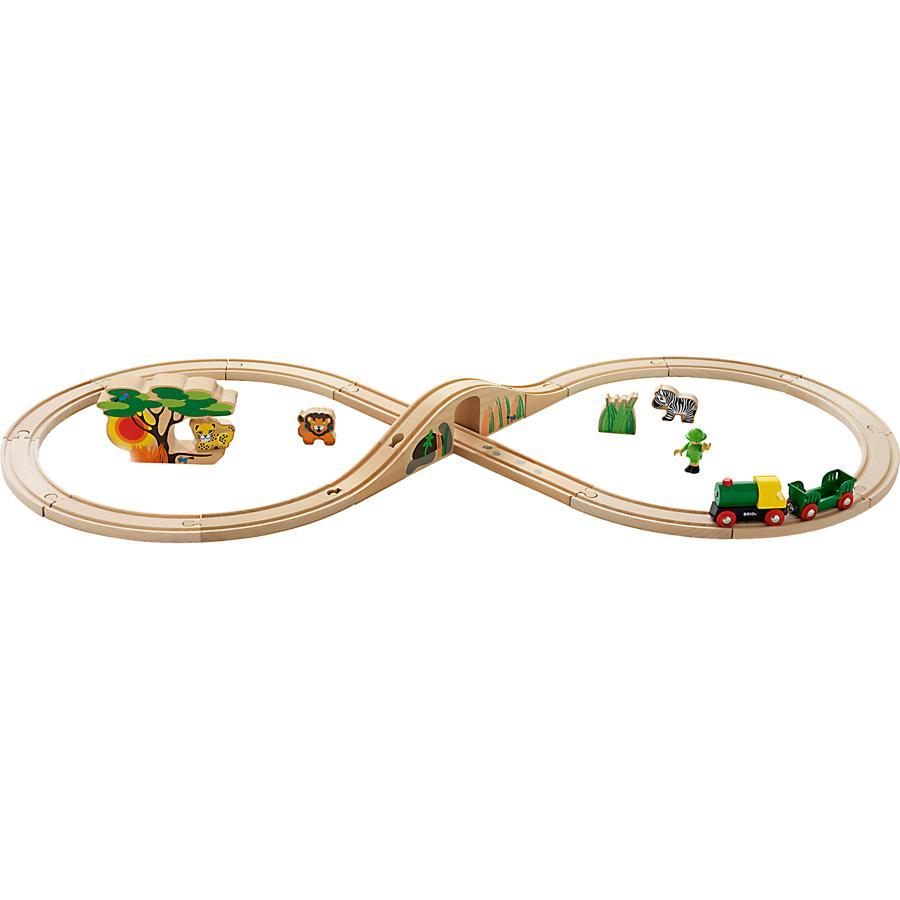 BRIO® Bahn Acht Set Safari, 25 Teile