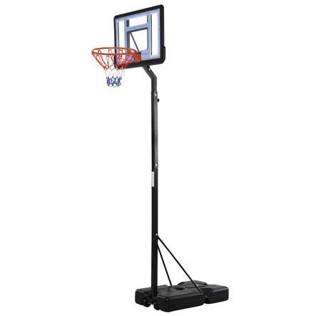 HOMCOM Basketballkorb mit 2 Rädern schwarz