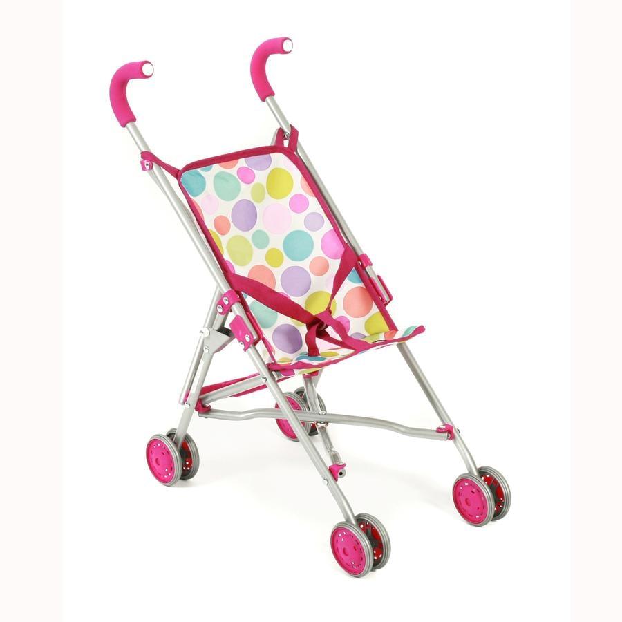 BAYER CHIC 2000 Wózek spacerowy dla lalek Roma, Pinky Bubbles 601-17