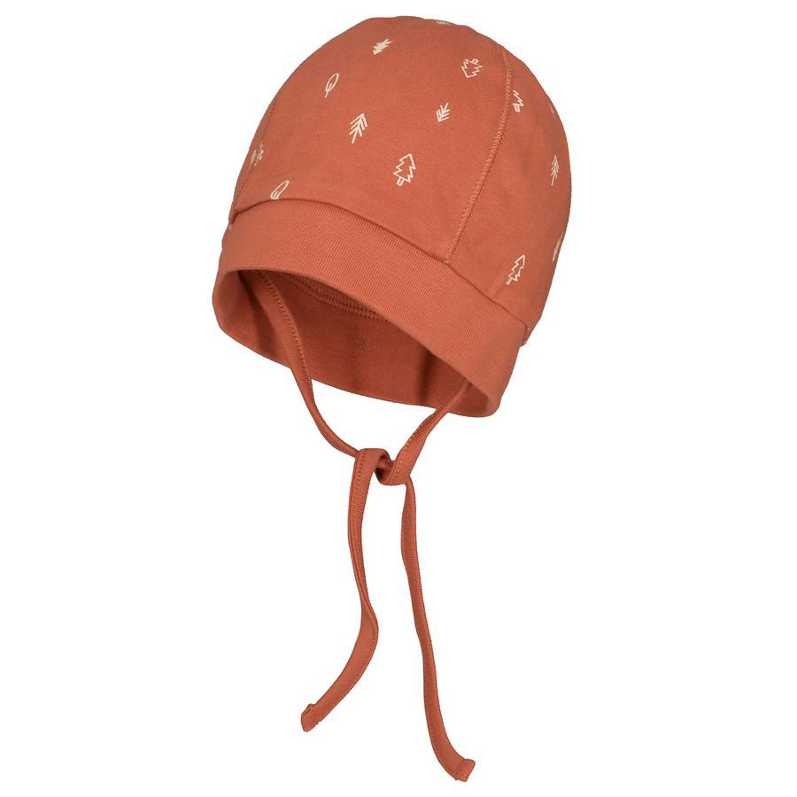 STACCATO Mütze rust gemustert