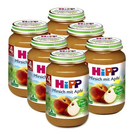 HiPP Bio Pfirsich mit Apfel 6 x 190 g