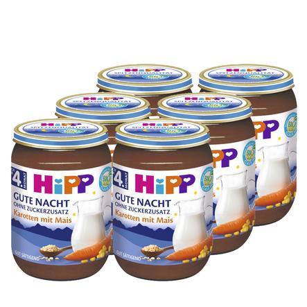 HiPP Bio Gute-Nacht-Brei Karotten mit Mais 6 x 190 g