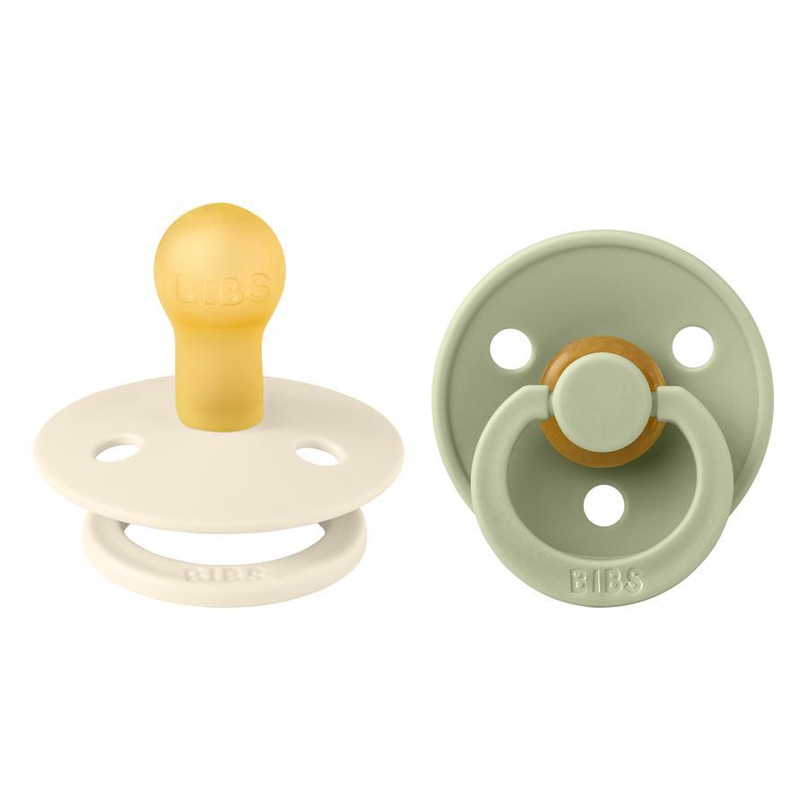 BIBS Schnuller Colour Ivory / Sage 0-6 Monate, 2 Stk.