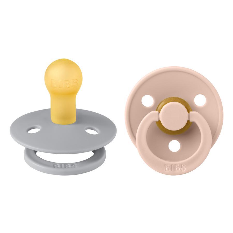 Chupete BIBS Colour Blush / Nube 0-6 meses, 2 unidades.