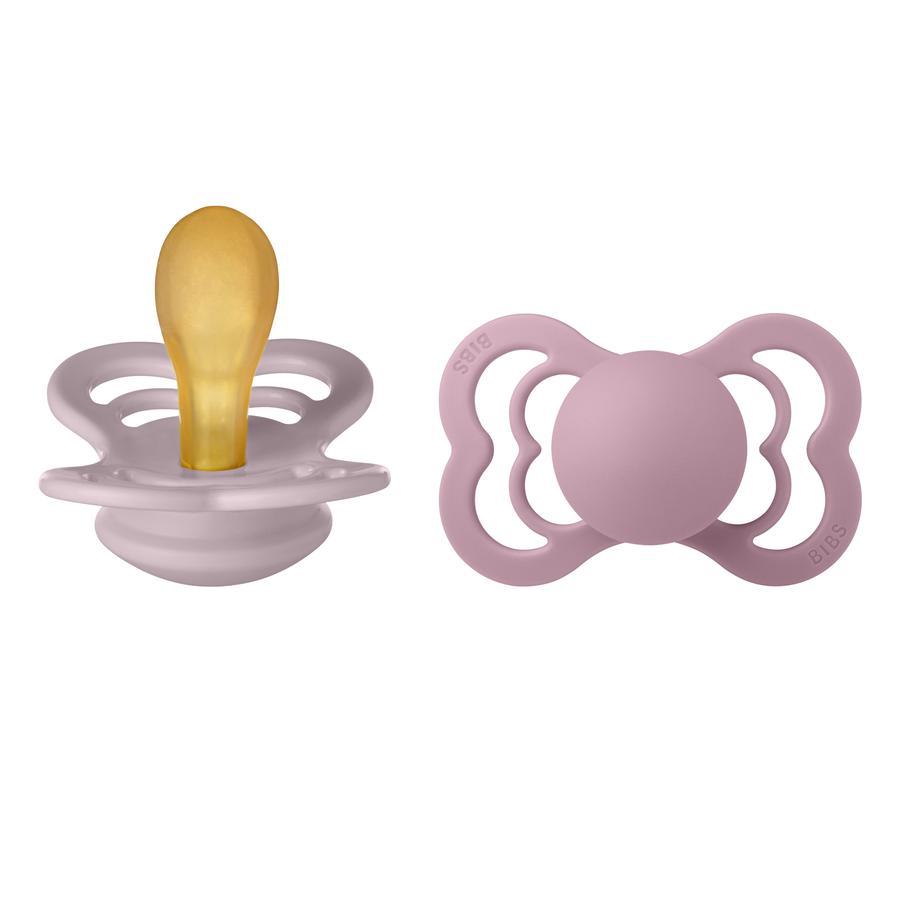 BIBS Schnuller Supreme Dusky Lilac / Heather Latex 6-36 Monate, 2 Stk.
