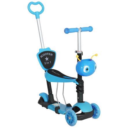 HOMCOM 3-in-1 Kinderscooter höhenverstellbar blau