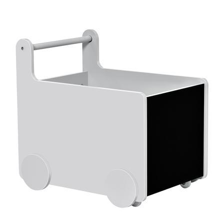 HOMCOM 2in1 Lauflernwagen mit Aufbewahrungsfach grau