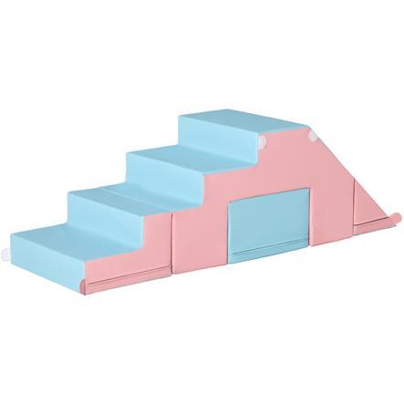HOMCOM Bausteine Baustein-Set, Spiel-Set Schaumstoff Rosa, Blau