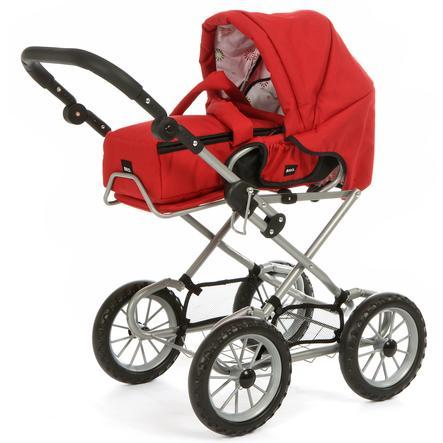 BRIO Red Combi Doll Stroller / Pram