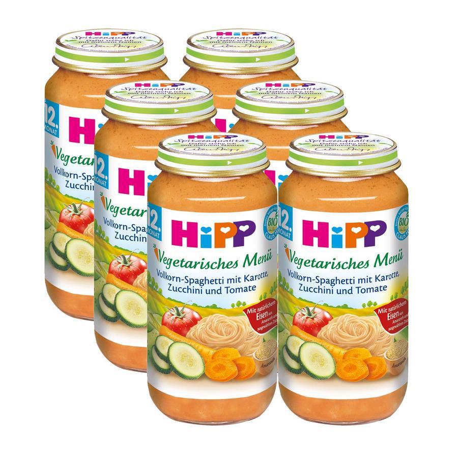 HiPP Bio Vollkorn-Spaghetti mit Karotte, Zucchini und Tomate 6 x 250g