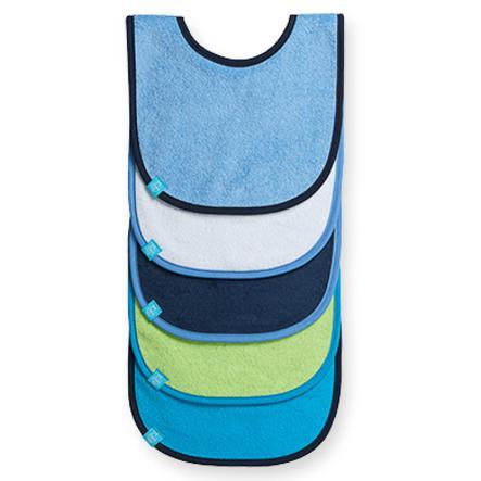 LÄSSIG Bavaglino - small per bambini 3-24 mesi - confezione 5 pezzi