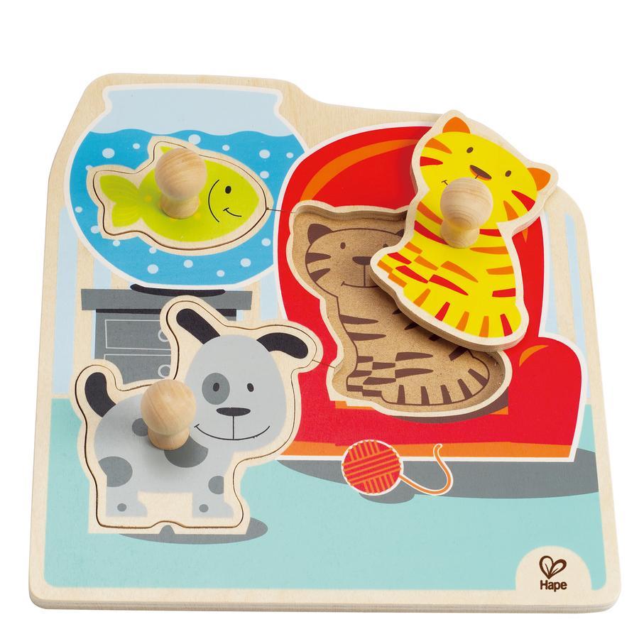 HAPE Puzzle à boutons - Mes animaux domestiques