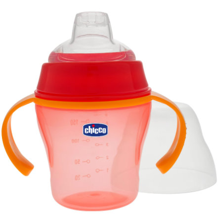 CHICCO Training Bottle with Spout 6+ months red