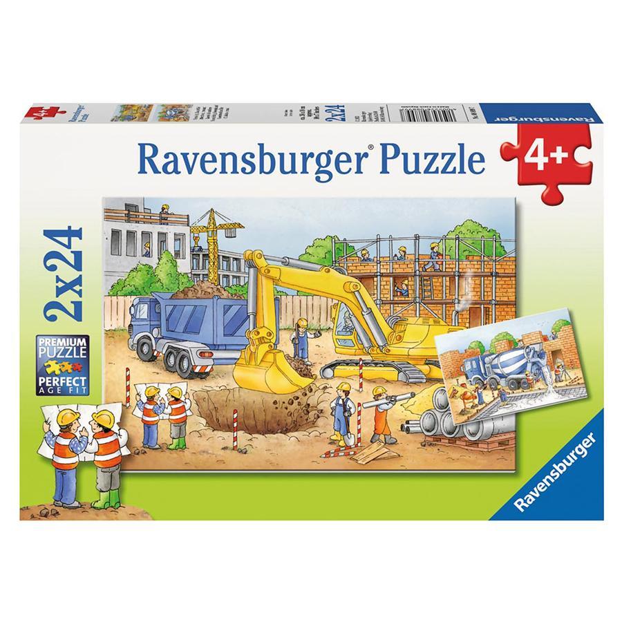 RAVENSBURGER Puzzle - Vorsicht, Baustelle! 2x24 Teile 08899