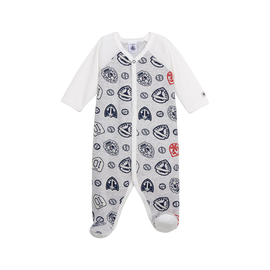 PETIT BATEAU Boys Baby Overall grey