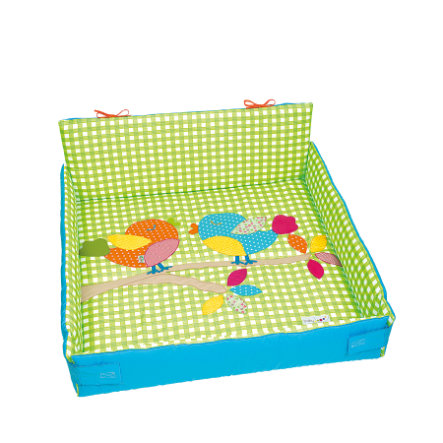 odenwälder Playpen Bird inlay y Karo whitee-li mette 75 x 100 cm