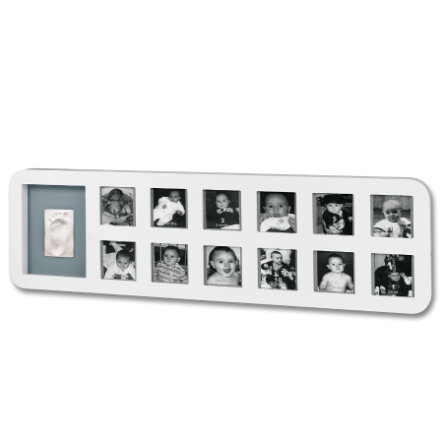 BABY ART 1st Year Print Frame White & Gray