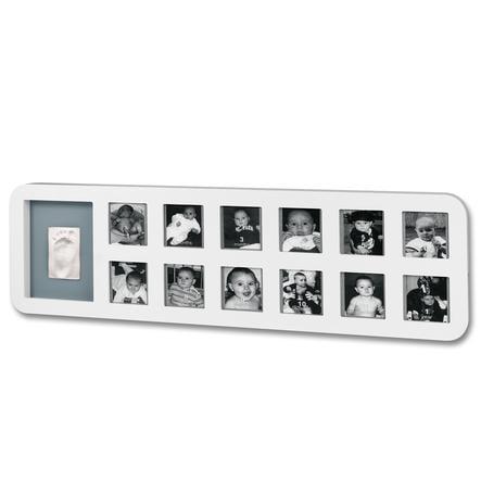 BABY ART Bilderrahmen - 1st Year Print Frame White & Grey